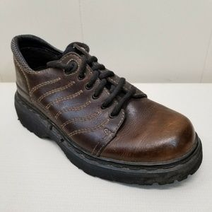 Dr Marten 9243 Brown Leather Oxfords England 7